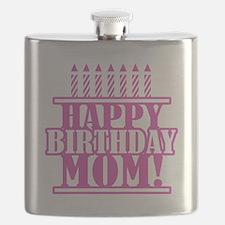 Happy Birthday Mom Flask