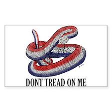 New Gadsen Snake Rectangle Decal