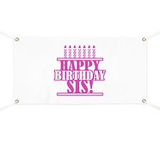Happy Birthday Sister Banner