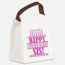 Happy Birthday Sister Canvas Lunch Bag