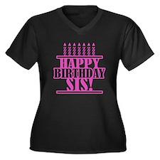 Happy Birthday Sister Women's Plus Size V-Neck Dar