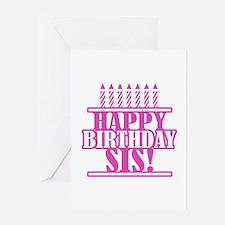 Happy Birthday Sister Greeting Card
