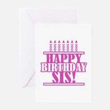 Happy Birthday Sister Greeting Cards (Pk of 20)