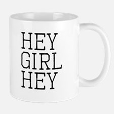 Hey Girl Hey Black Small Mugs