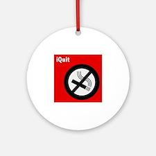 iQuit Smoking Ornament (Round)