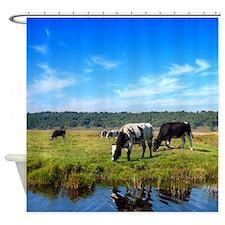Beautiful Cow Landscape Shower Curtain