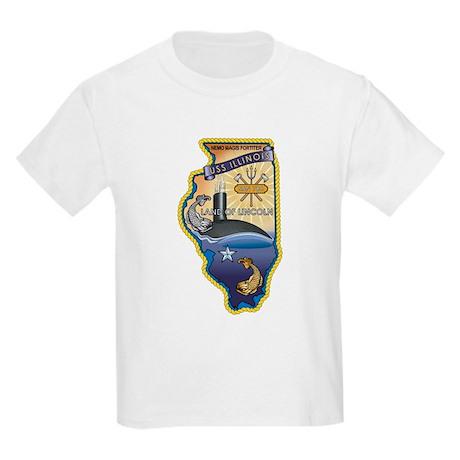 USS Illinois SSN-786 Kids Light T-Shirt