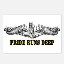 Pride Runs Deep! SSN-786 Postcards (Package of 8)