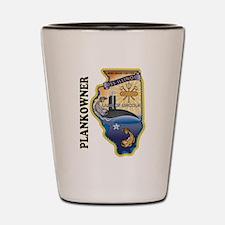 USS Illinois Plankowner Shot Glass