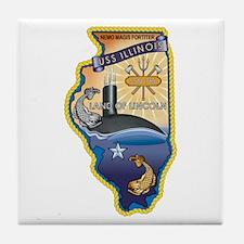 USS Illinois SSN-786 Tile Coaster