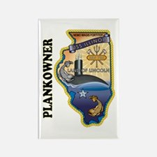 USS Illinois Plankowner Rectangle Magnet