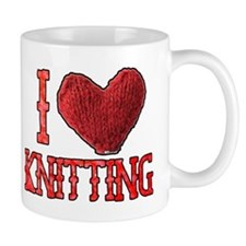 I Heart (Love) Knitting Mug