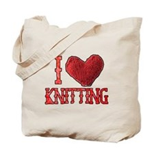 I Heart (Love) Knitting Tote Bag