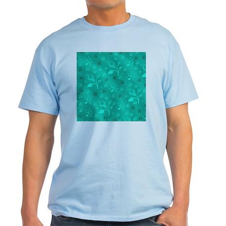 Turquoise floral mix light t shirt turquoise floral mix t for Aqua blue color t shirt