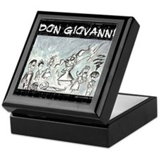 Don Giovanni black & white Keepsake Box