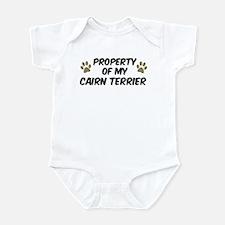 Cairn Terrier: Property of Infant Bodysuit