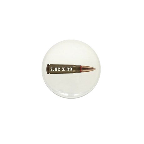 7.62 AK Ammo Design Mini Button (10 pack)