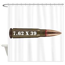 7.62 AK Ammo Design Shower Curtain