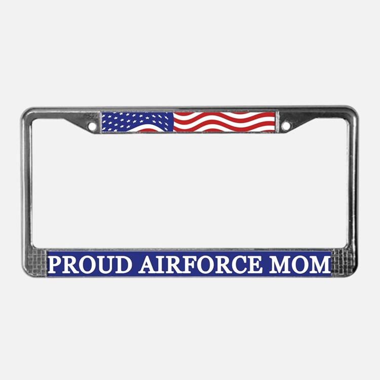 Proud Airforce Mom License Plate Frame