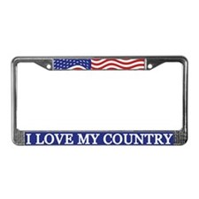I Love My Country License Plate Frame