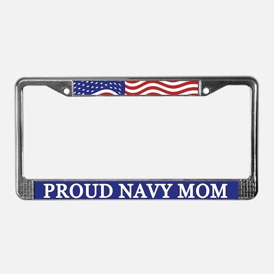 Proud Navy Mom License Plate Frame