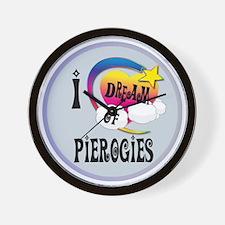 I Dream of Pierogies Wall Clock