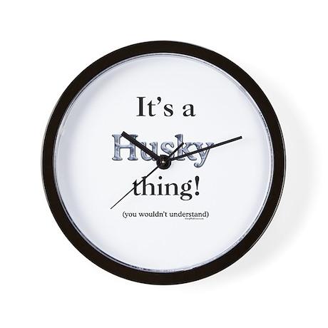 Husky Thing Wall Clock