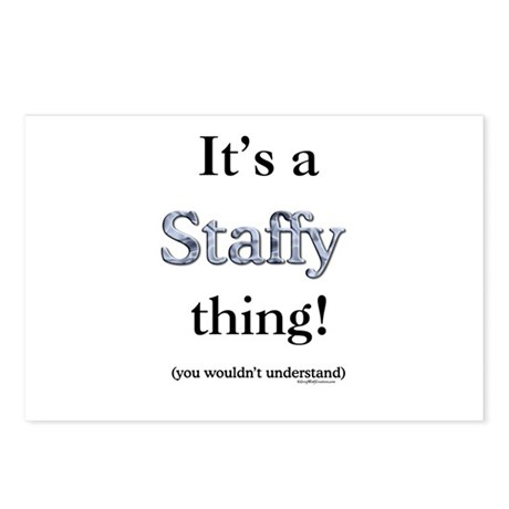 Staffy Thing Postcards (Package of 8)