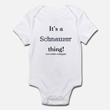 Schnauzer Thing Infant Bodysuit