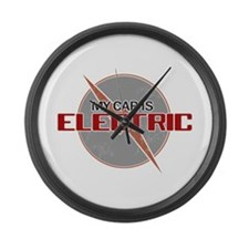Electric Car Large Wall Clock