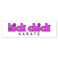 Karate Kick Chick Car Sticker