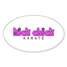 Karate Kick Chick Bumper Stickers