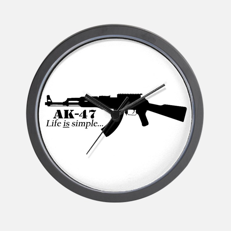 AK-47 - Life is simple Wall Clock