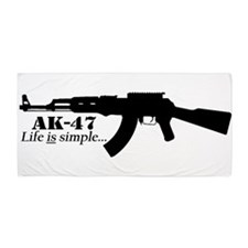 AK-47 - Life is simple Beach Towel