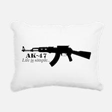 AK-47 - Life is simple Rectangular Canvas Pillow