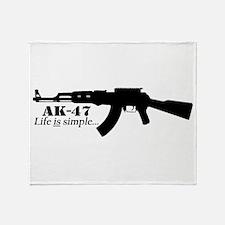 AK-47 - Life is simple Throw Blanket