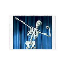 Funny Skeleton Bones 5'x7'Area Rug