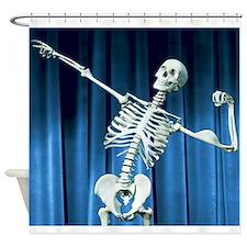 Funny Skeleton Bones Shower Curtain