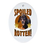 Spoiled Rotten Dachshund Oval Ornament