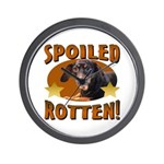 Spoiled Rotten Dachshund Wall Clock