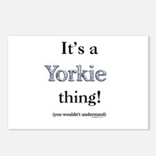 Yorkie Thing Postcards (Package of 8)