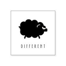 "Different Square Sticker 3"" x 3"""