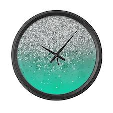 Glitteresques III Large Wall Clock