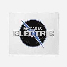 Electric Car Throw Blanket