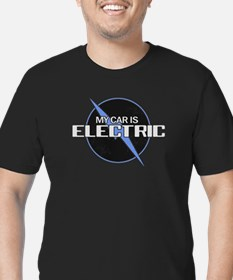 Electric Car Men's Fitted T-Shirt (dark)
