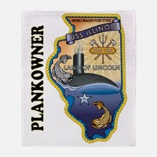 USS Illinois Plankowner Throw Blanket