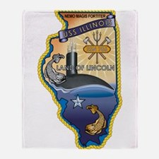 SSN 786 USS llinois Throw Blanket