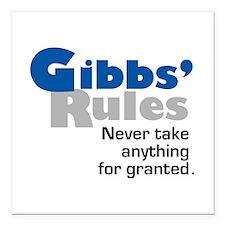 Gibbs' Rules Never Take Anything for Granted Squar