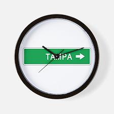Roadmarker Tampa (FL) Wall Clock