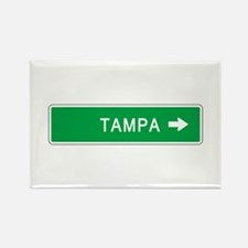 Roadmarker Tampa (FL) Rectangle Magnet